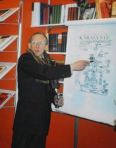 Rašytojas Petras Dirgėla, istorinių romanų autorius.