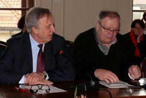 Seimo narys Povilas Gylys ir emigracijos ekspertas Dainius Paukštė.