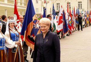 Lietuvos Prezidentė Dalia Grybauskaitė.