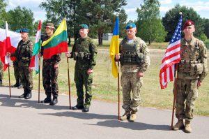 Karinių pratybų ANAKONDA - 2016 dalyviai.