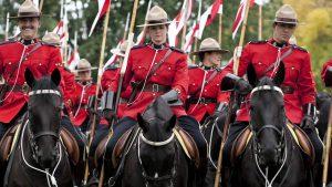 Kanados raitoji pasienio policija.