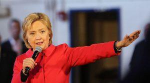 JAV kandidatė į Prezidento postą ponia Hilary Klinton.