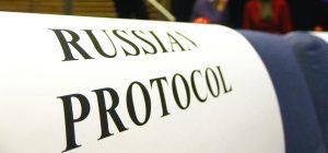Rusijos diplomatinis protokolas.