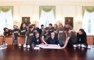 """Prezidentės susitikimas su """"Misijos Sibiras'16"""" komanda."""