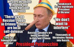 Rusijos prezidentas Vladimiras Putinas - melagių melagis.