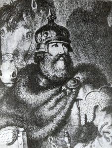 Karaliaus Gedimino sūnus Kęstutis. V.Gersono paveikslas.