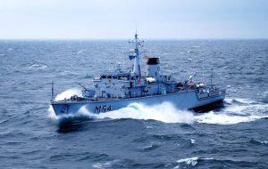 Baltijos šalių karinių laivų junginio (BALTRON) pratybos BALTRON SQUADEX II-16.