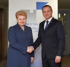 Lietuvos Respublikos Prezidentė Dalia Grybauskaitė susitiko su Lenkijos Prezidentu Andrzejumi Duda.