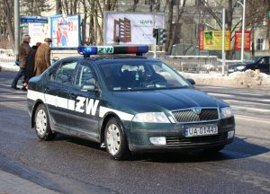 Lenkijos karinės žandarmerijos automobilis
