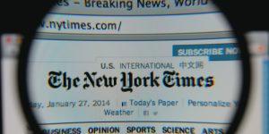 """""""The New York Times"""" laikraštis, į kurio duomenų bazes įsilaužti bandė Rusijos slaptųjų tarnybų kontroliuojami hakeriai (programišiai)."""