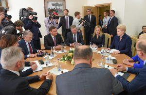 Prezidentės Dalios Grybauskaitės susitikimas su šia Seimo valdyba - paskutinis.
