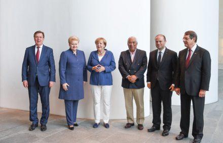 Neformali vakarienė Vokietijoje: Lietuvos Prezidentė Dalia grybauskaitė susitinka su Vokietijos kanclere Angela Merkel.