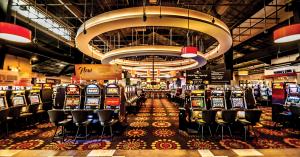 Azartinių lošimų salė kazino.