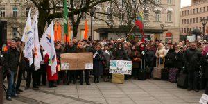 Protesto mitingas prie Lietuvos Vyriausybės. Vytauto Visocko (Slaptai.lt) nuotr.