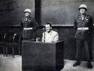Niurnbergo teismo proceso metu.