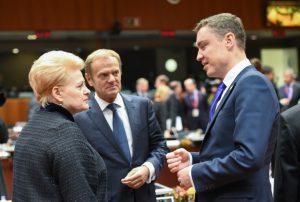 Prezidentė Dalia Grybauskaitė - Europos Vadovų Taryboje. Prezidento kanceliarijos (Robertas Dačkus) nuotr.