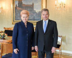 Lietuvos ir Suomijos Prezidentai Dalia Grybauskaitė ir Sauli Niinistö.