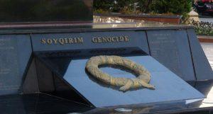 Paminklo Hodžaly aukoms atremti paminklo fragmentas. Azerbaidžano sostinė Baku. Slaptai.lt nuotr.