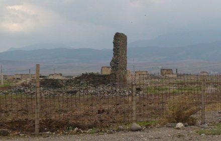 Dėl Armėnijos - Rusijos agresijos azerbaidžanietiškasis Kalnų Karabachas pavirto griuvėsiais. Slaptai.lt nuotr.