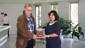 Slaptai.lt: директор музея Саида Аббасова и журналист Гинтарас Висоцкас.