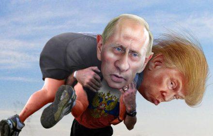 Niekas dar nežino, kokie santykiai susiklostys tarp Donaldo Trampo ir Vladimiro Putino. Karikatūra