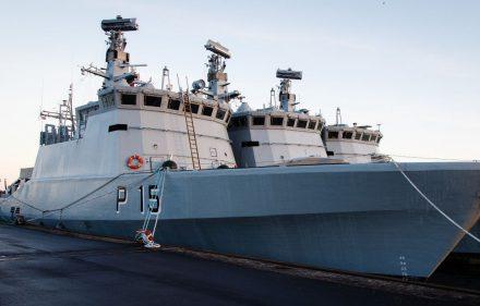 """Flyvefisken"" klasės laivas P15. Vytauto Drejerio nuotr."