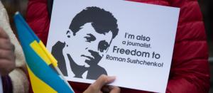 Maskvoje suimtas Ukrinform žurnalistas Romanas Suščenka kaltinamas šnipinėjimu. Unian.net nuotr.
