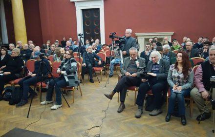 Vilniaus Rotušėje surengta diskusija dėl Kazio Škirpos atminimo įamžinimo.