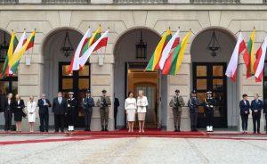 Susitikimas Varšuvoje. LR Prezidento (Robertas Dačkus) nuotr.