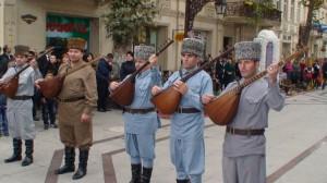 Įspūdingas melodijas groję azerbaidžaniečių muzikantai