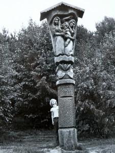 Lūšių ežero skulptūra