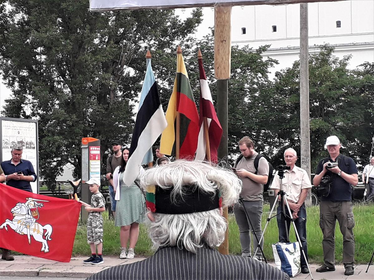Baltijos šalių vėliavos. Slaptai.lt nuotr.