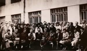 Su mokytojais V. Rėklaitiene, M.Viselgaite, Šurkute ir J.Pranevičium