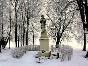 Marija prie Burbiškių parko