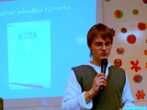 Mokyklos mokinių prezidentas Edgaras Mockus