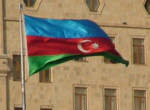 Azerbaidžano vėliava. Slaptai.lt nuotr.