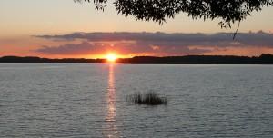Lūšių ežeras vakare