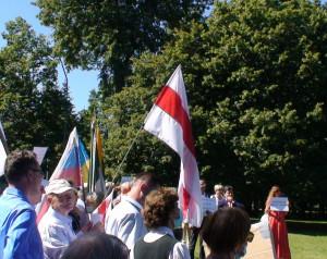 Baltarusijos vėliava. Slaptai.lt nuotr.