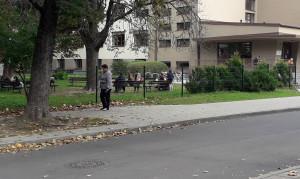 Vaikų žaidimo aikštelėje. Slaptai.lt nuotr.