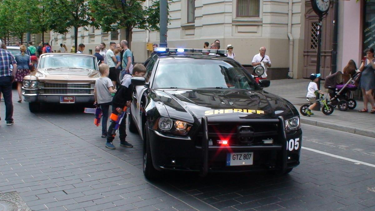 Šerifo automobilis. Slaptai.lt nuotr.