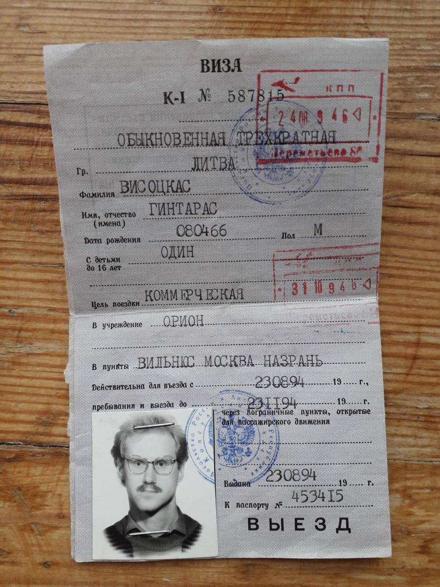 Viza - leidimas vykti į Ingušetiją. Slaptai.lt nuotr.