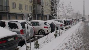Sniegas Pilaitės rajone. Slaptai.lt nuotr.