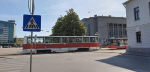 Tramvajų linijos Daugpilyje buvo nutiestos tuoj po Antrojo pasaulinio karo.