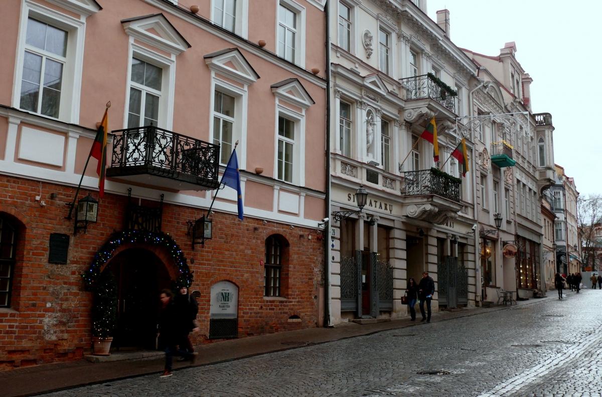 Vilniaus senamiestis. Signatarų namai. Vytauto Visocko (Slaptai.lt) nuotr.