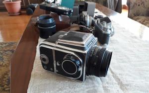 Fotoaparatai, kuriais kadaise fotografavo Tėvas. Slaptai.lt nuotr.
