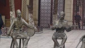 Azerbaidžaniečių muzikantai - skulptūroje