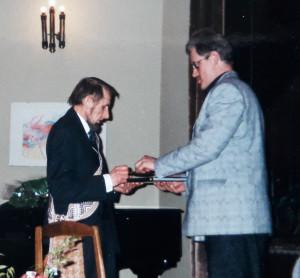 Rašytojas Petras Dirgėla ir žurnalistas Gintaras Visockas. Slaptai.lt nuotr.