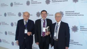 Baku Tarptautiniame Humanitariniame Forume su Italijos ir Baltarusijos kolegomis. Slaptai.lt nuotr.