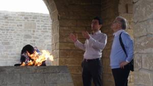 Ugnies garbintojų muziejuje prie Baku. Slaptai.lt nuotr.