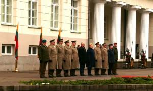 Lietuvos Respublikos Prezidentė tarp aukštų kariškių